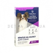 Palladium Ultra Protect, ультра протект, краплі для собак від бліх та кліщів (до 4 кг)