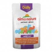ALMO NATURE Daily Menu Cat Консерва для котів, 70 г (з куркою і лососем)