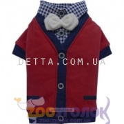 Doggy Dolly Red cardigan 2 legs Кардиган для собак, червоний